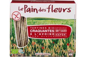 le Pain des Fleurs glutenvrije krokante crackers haver