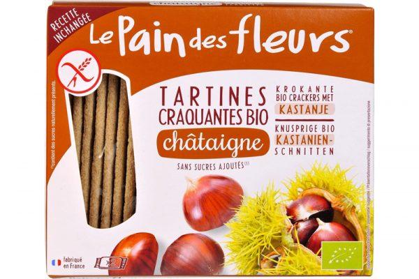 le Pain des Fleurs glutenvrije krokante crackers kastanje