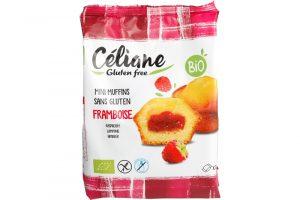 Celiane glutenvrije mini muffins met frambozenvulling